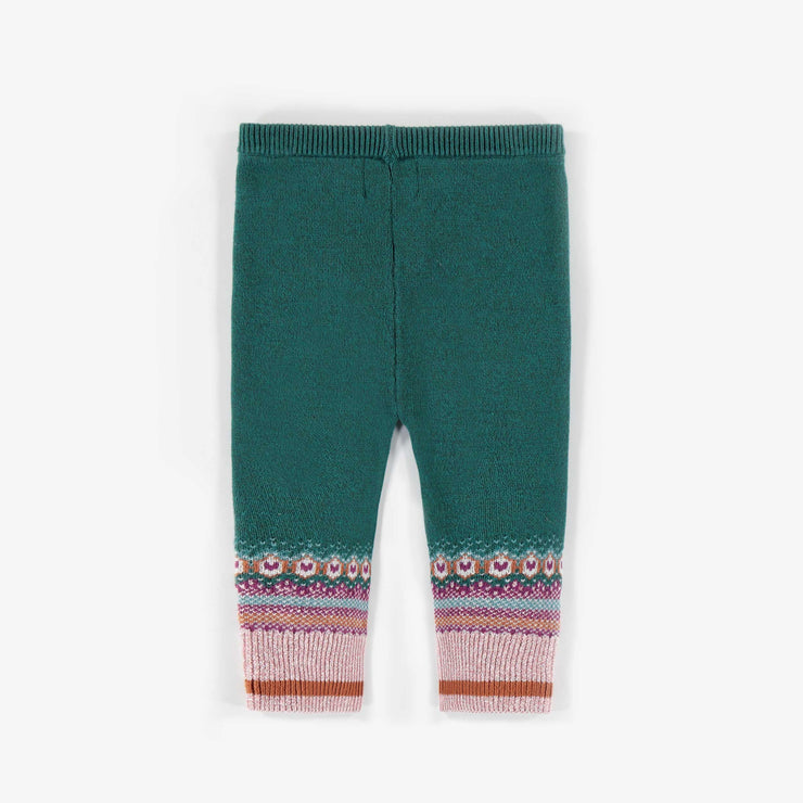 Legging vert foncé en maille || Dark Green Knit Leggings