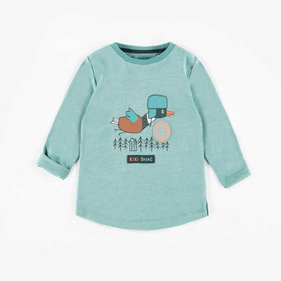T-shirt turquoise à manches longues || Teal Long-sleeve T-shirt