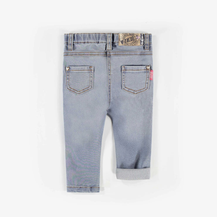 Pantalon en denim bleu pâle -Coupe ajustée|| Light Blue Denim Pants -Skinny Fit
