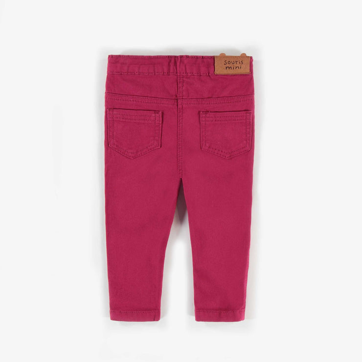 Pantalon de twill extensible rose || Pink Stretch Twill Pants