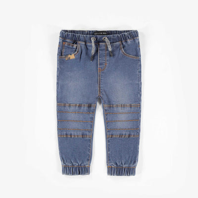 Pantalon en denim bleu -Coupe jogger|| Blue Jog Denim Pants