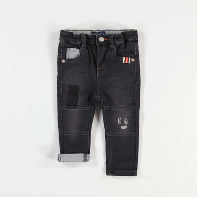 Pantalon de denim noir, coupe régulière || Black Denim Pants, Regular Fit