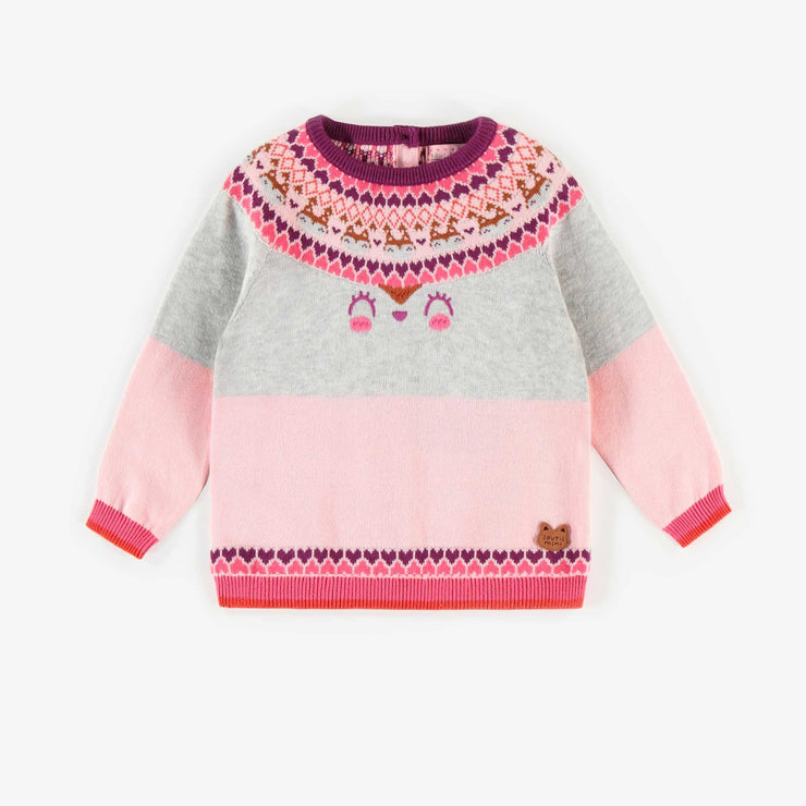 Chandail de maille rose || Pink Knit Sweater