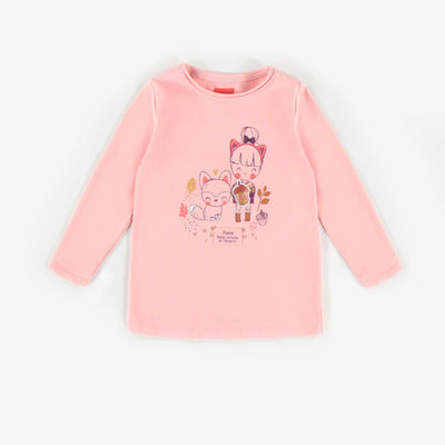 T-shirt à manches longues rose || Pink Long-sleeve T-shirt