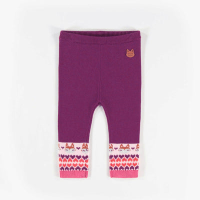 Legging mauve en maille || Purple Knit Leggings