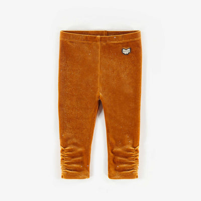 Legging de velours brun, bébé fille || Brown Velvet Leggings, Baby Girl
