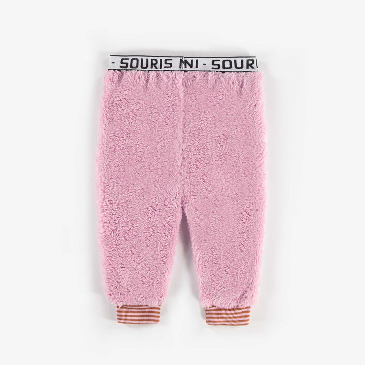 Pantalon en polar rose  || Pink Fleece Pants