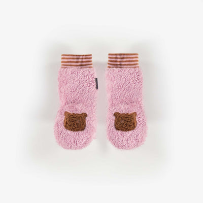 Chaussettes en polar rose  || Pink Fleece Socks