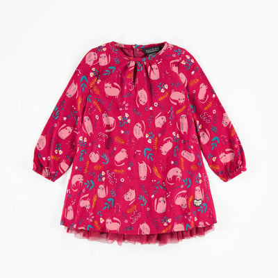 Robe à motifs à manches longues, bébé fille  || Long -Sleeve Patterned Dress, Baby Girl