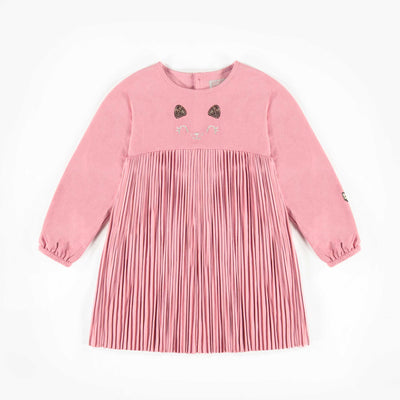Robe rose à manches longues, bébé fille  || Long -Sleeve Pink Dress, Baby Girl