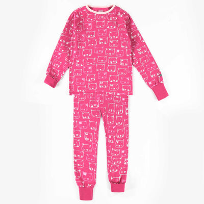 Pyjama évolutif rose à motifs  || Adjustable Pink Patterned Pyjamas