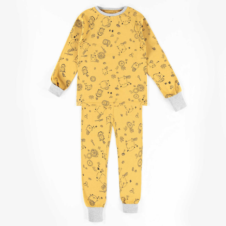 Pyjama évolutif jaune à motifs  || Adjustable Yellow Patterned Pyjamas