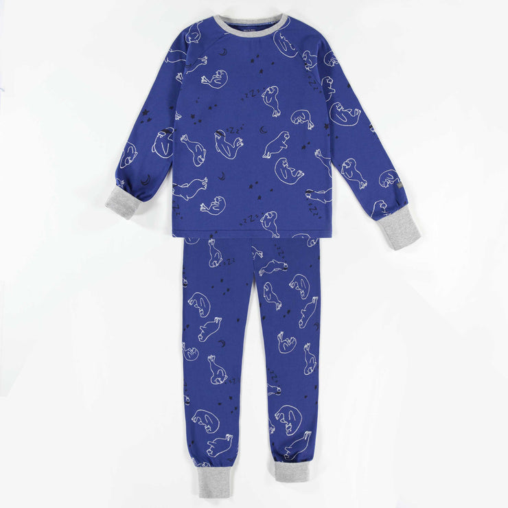 Pyjama évolutif bleu à motifs  || Adjustable Blue Patterned Pyjamas