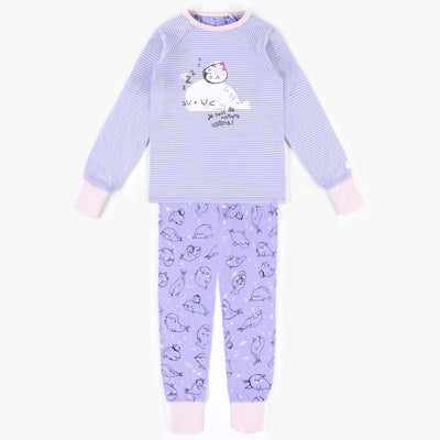 Pyjama évolutif mauve à motifs  || Adjustable Purple Patterned Pyjamas