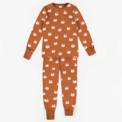 Pyjama évolutif brun en coton biologique  || Adjustable Brown Organic Cotton Pyjamas