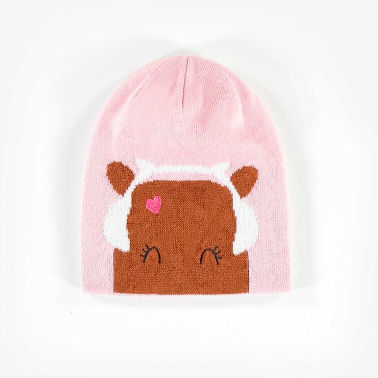 Tuque rose, fille || Pink Toque, Girl