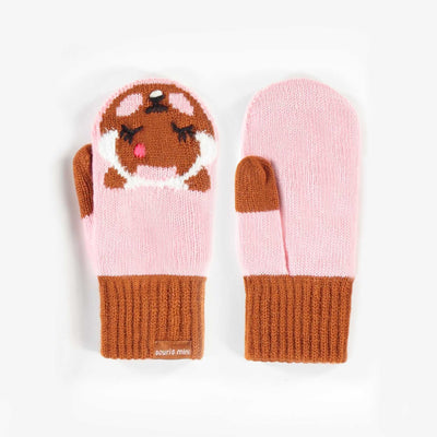Mitaines rose, fille || Pink Mittens, Girl