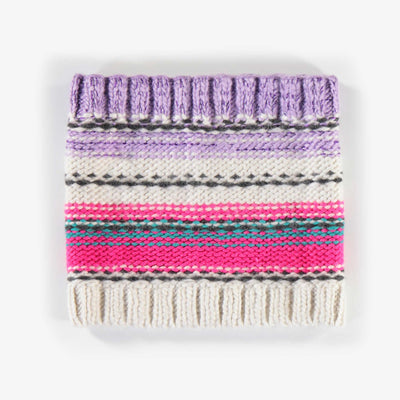 Cache-cou rayé, fille || Striped Neck Warmer, Girl