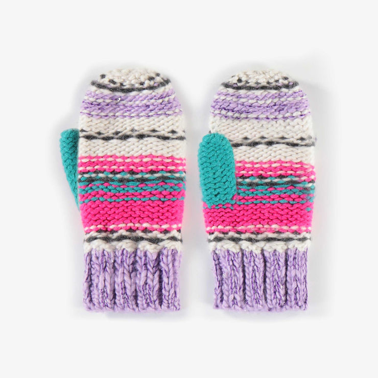 Mitaines rayées, fille || Striped Mittens, Girl