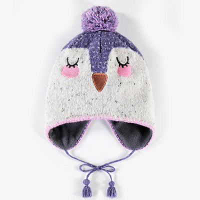 Tuque mauve, fille || Purple Toque, Girl