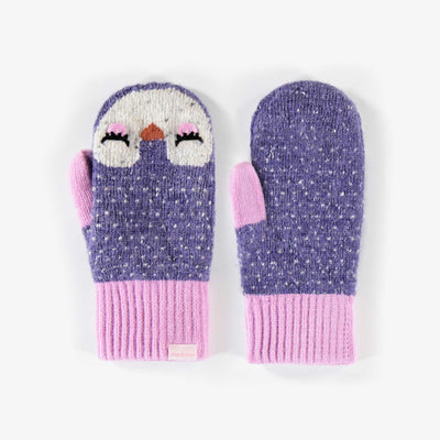 Mitaines mauves, fille || Purple Mittens, Girl