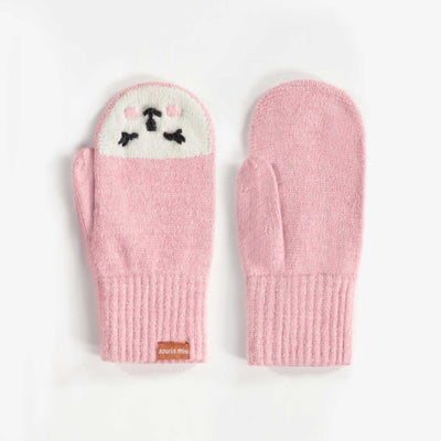 Mitaines roses, fille || Pink Mittens, Girl
