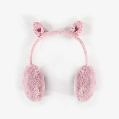 Cache-oreilles roses, fille || Pink Earmuffs, Girl