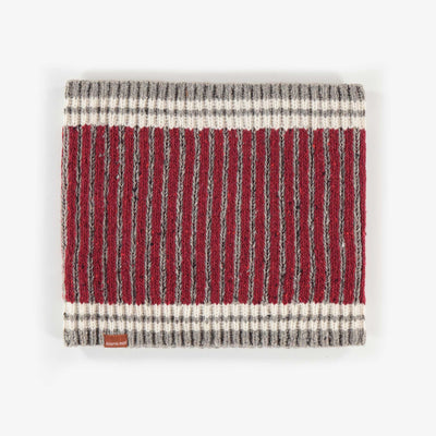 Cache-cou rouge et gris, garçon || Red and Grey Neck Warmer, Boy