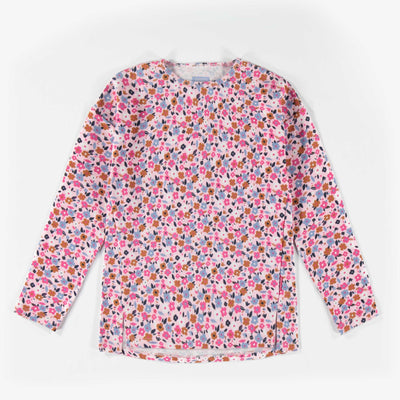 T-shirt rose à motifs à manches longues || Pink Pattern Long-sleeve T-shirt