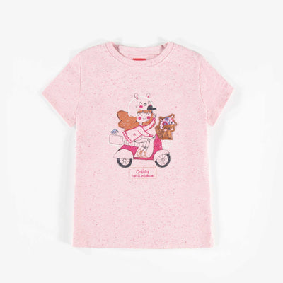 T-shirt rose à manches courtes || Short-sleeve Pink T-shirt