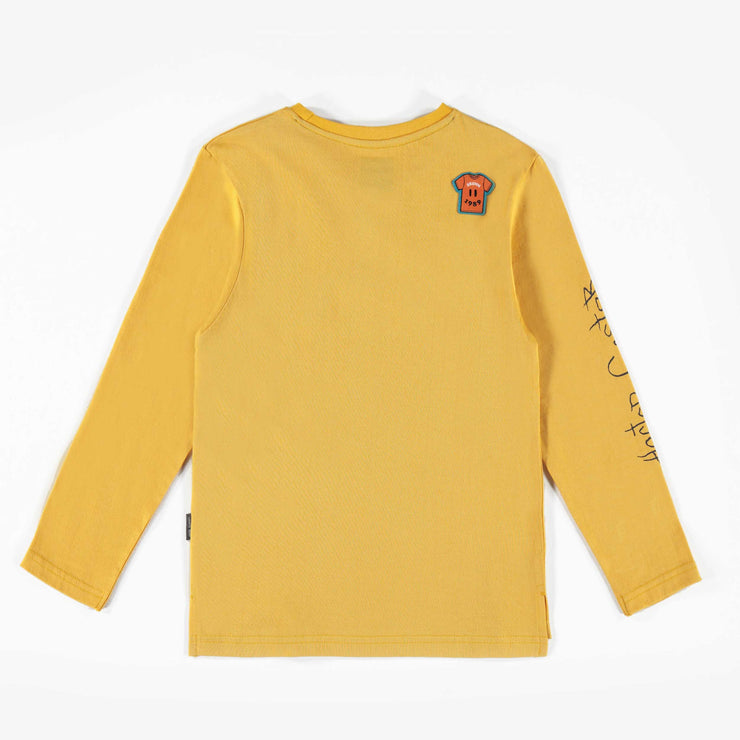 T-shirt jaune à manches longues || Yellow Long-sleeve T-shirt