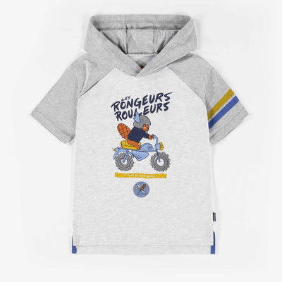 T-shirt à manches courtes à capuchon || Short-sleeve Hooded T-shirt