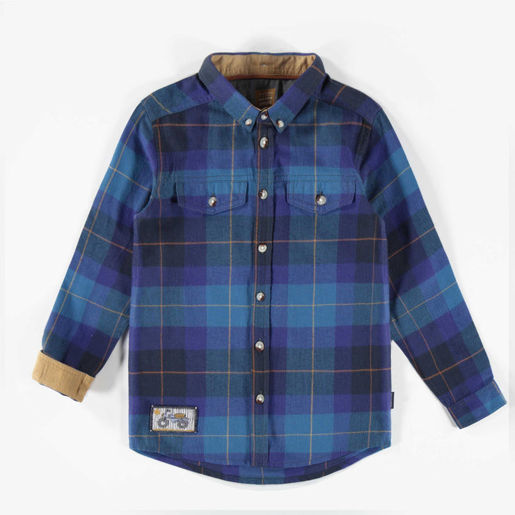Chemise bleue à carreaux || Blue Plaid Shirt
