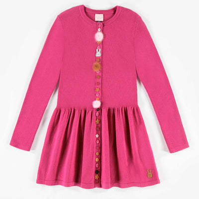 Robe rose de maille || Pink Knit Dress