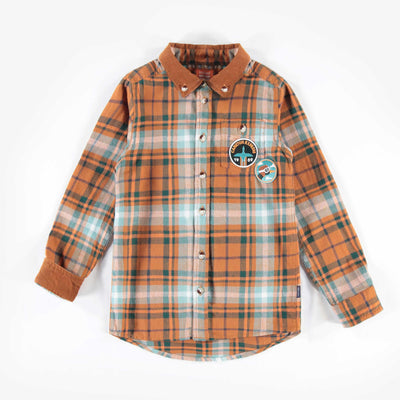 Chemise brune et turquoise à carreaux || Brown and Teal Plaid Shirt