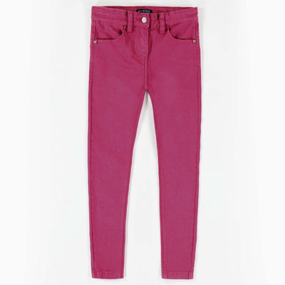 Pantalon de twill extensible rose -Coupe très ajustée || Pink Stretch Twill Pants -Super Skinny
