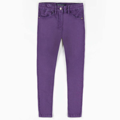 Pantalon de twill extensible mauve -Coupe très ajustée ||Purple Stretch Twill Pants -Super Skinny