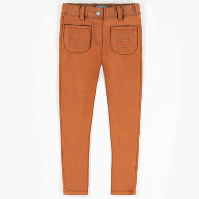 Pantalon en denim brun - Coupe ajustée|| Brown Denim Pants -Skinny