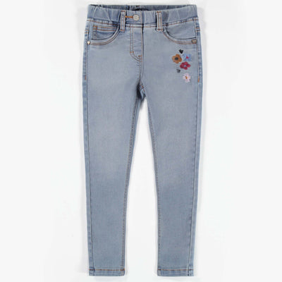 Pantalon en denim bleu pâle - Coupe très ajustée|| Light Blue Denim Pants -Super Skinny
