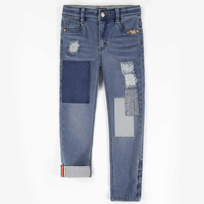 Pantalon de denim bleu -Coupe ajustée || Blue Denim Pants -Skinny Fit