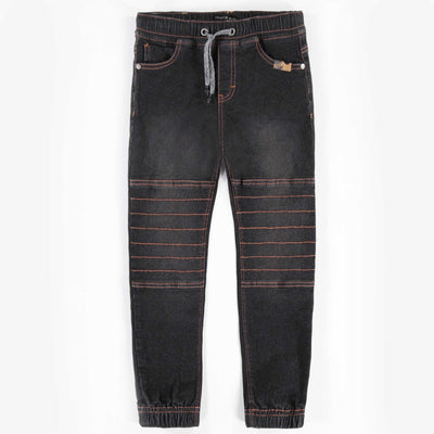 Pantalon en denim noir -Coupe jogger || Black Jog Denim Pants