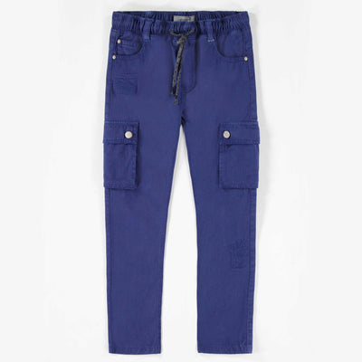 Pantalon de twill extensible bleu || Blue Stretch Twill Pants