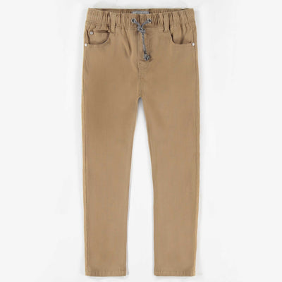 Pantalon de twill extensible beige || Sand Stretch Twill Pants