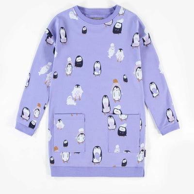 Robe mauve pâle à pingouins || Light Purple Dress with Penguins