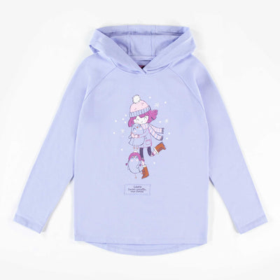 T-shirt mauve pâle à manches longues à capuchon || Light Purple Hooded Long-sleeve T-shirt