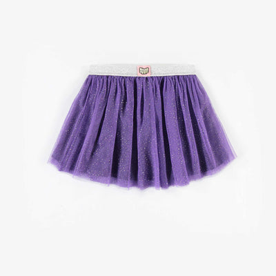 Jupe mauve à pois argentés réversible || Reversible Purple Skirt with Silver Dots