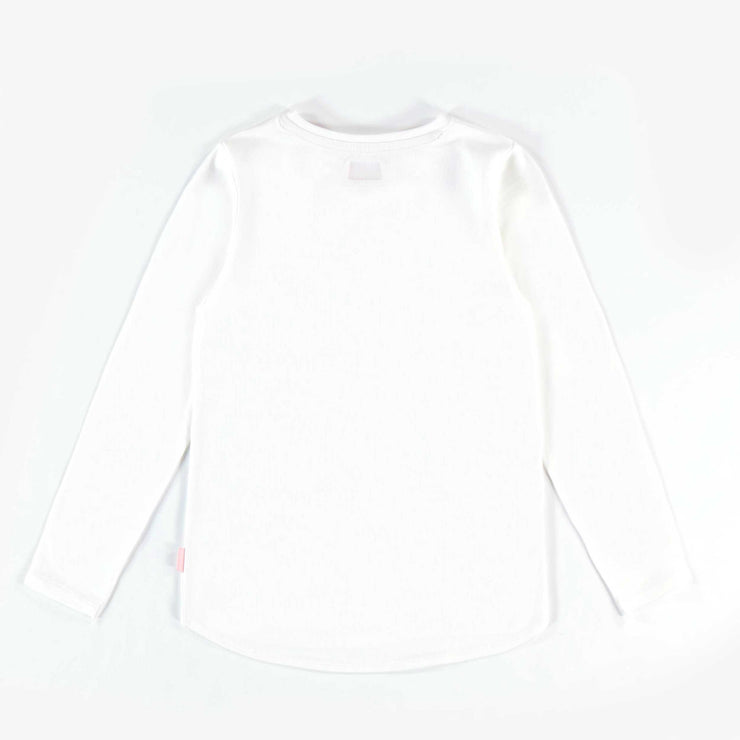 T-shirt blanc à manches longues || White Long-sleeve T-shirt