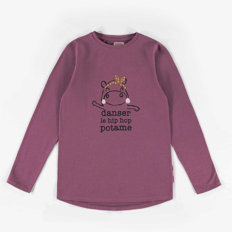 T-shirt mauve à manches longues || Purple Long-sleeve T-shirt