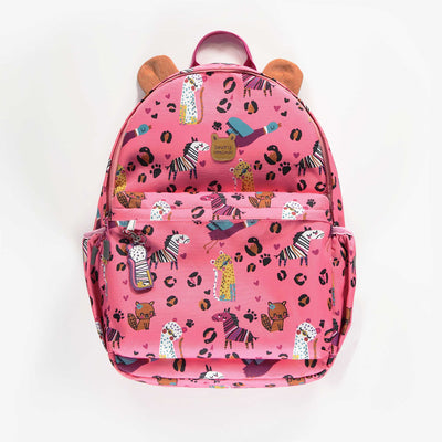 Sac d'école rose à motifs || Pink Schoolbag with Patterns