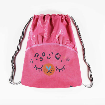 Sac tout usage rose à motifs || Pink Carry-all Bag with Patterns